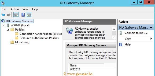 RD gateway manager